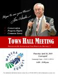 Madera County District 5 Supervisor Tom Wheeler Announces Town Hall Meeting in Coarsegold on Thursday, April 26, 2018